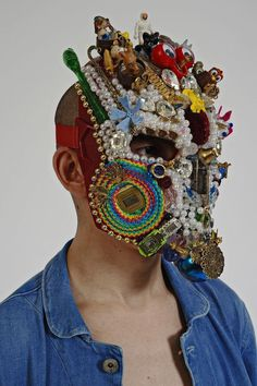 Quiche, queer but still tribal beacuse it uses Icons, Colors and Divinity. Textiles, Lesage, Fashion Mask, Masks Art, Headgear, Mode Style, Face Art, Headdress, Costume Design