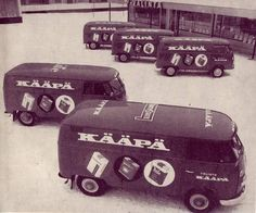 Kääpä-kauppiaalla  ( Kääpä Shop) VW Kleinbus in Lahti Finland 1970's