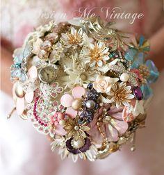 brooch bouquet.... a watch maybe,butterfly is cute