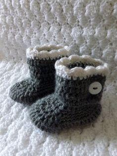 Crochet Button Booties