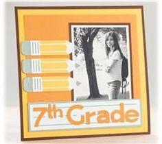 Scrapbook your school memories on this fun layout!