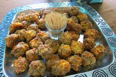 Our Liz Biro writes that when it comes to holiday nibbles in North Carolina, nothing beats sausage balls -- mini-meatball morsels of pork and cheddar cheese -- but proper preparation is key. Sausage Recipes, Beef Recipes, Mini Meatballs, Ireland Food, Sausage Balls, Tailgating Recipes, Recipe Today, Rotisserie Chicken, Vegetable Dishes