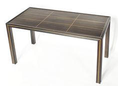 Macassar with maple inlay, Tommi Parzinger style coffee table - vintage design 60s/70s.