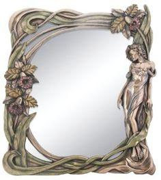 Art Nouveau Orchid Mirror Display Decoration *** Visit the image link more details. Art Deco, Art Nouveau Design, Design Art, Wall Design, Country Farmhouse Decor, Farmhouse Interior, Style Floral, Jugendstil Design, Stained Glass Art