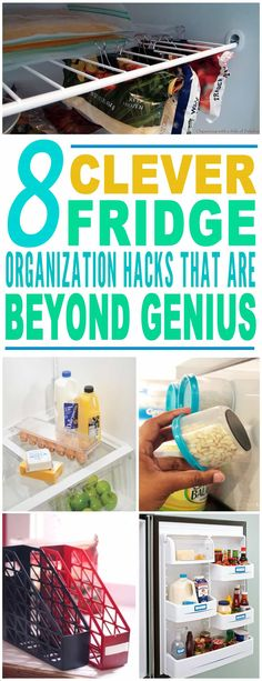 These fridge organization hacks are just the BEST! Tried a few of these fridge storage tips and already saved a lot of space. Pinning for later