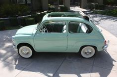 1960 Fiat, this would be the perfect car for me. Reminds me of my bug :)