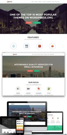 ZerifPro - Responsive One Page Theme. WordPress Business Themes. $99.00
