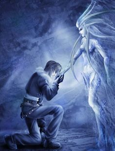 Squall & Shiva (Final Fantasy VIII) #ff8...always loved this summon
