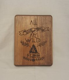 Wild & Free // Wood Burned Plaque by BrennenCo on Etsy