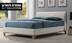 שמרת הזורע - Merchandising (IL): שמרת הזורע: מיטה זוגית דגם אניגמה, המשלבת עץ מלא וריפוד ב-2 מידות לבחירה