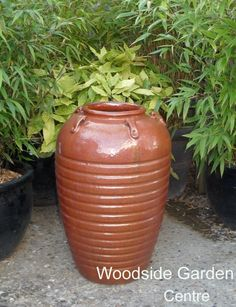 Charmant Large Copper Red Glazed Egyptian Vase Pot | Woodside Garden Centre | Pots  To Inspire