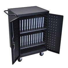 Offex 2-Compartment Laptop or Tablet Charging Cart