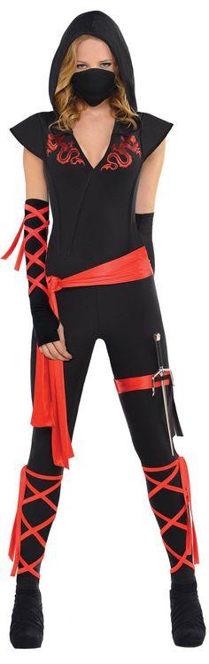 Womens Dragon Fighter Ninja Costume from CostumeExpress.com