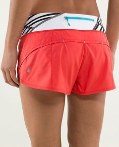 run speed shorts//2 way//love red