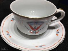 Egypt coffee cup & saucer, Arabia Finland, Tyra Lundgren 1920s
