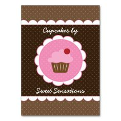 Cupcake toppers free printable and more free printable templates cherry cupcake chubby business card reheart Images
