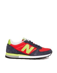 New Balance Blue/Red Suede and Mesh 430 Trainers