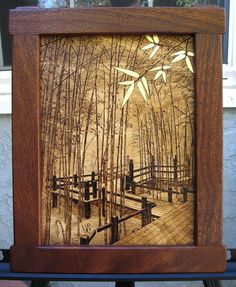 wood burning #3 - Bamboo forest - by jtpark @ LumberJocks.com ~ woodworking community