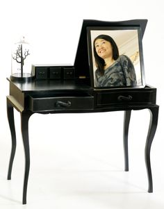 During the nine-month course at The Chippendale School in Scotland, this student has chosen to use her newly-learned skill to ebonise her handmade dressing table.