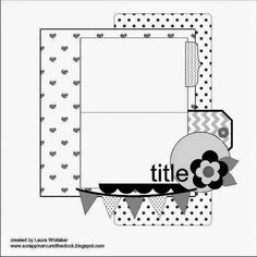 Scrap Paper Scissors etc.: Sketch-y Friday at Scrapmuch? - Enjoy The Little Things Scrapbook Layout Sketches, 12x12 Scrapbook, Scrapbook Templates, Card Sketches, Scrapbook Paper Crafts, Scrapbook Albums, Scrapbooking Layouts, Paper Crafting, Project Life