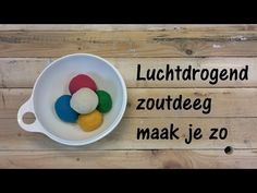 Luchtdrogend zoutdeeg maak je zo - YouTube Make Your Own, Make It Yourself, How To Make, Diy Presents, Kids Party Games, Dog Bowls, Diy For Kids, Something To Do, Diy And Crafts