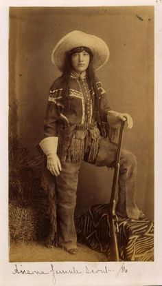 "Cowgirl from the old west, 1886 - ""It ain't the clothes that make the cowgirl, it's the attitude and heart."" ~Unknown"