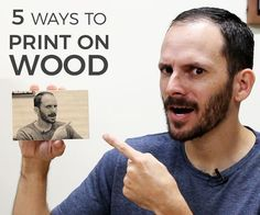 Find out 5 Ways to Print on Wood to customize your projects with a DIY image transfer. Full video tutorial inside!