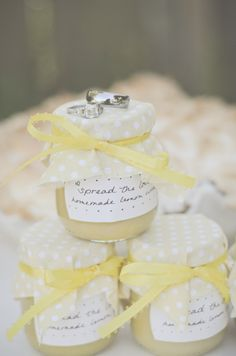 """wedding favor. """"Spread the Love"""" homemade jelly by the Jelly Man. Start picking those raspberries!"""