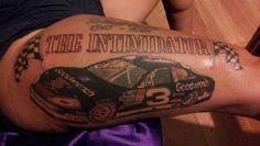 NASCAR Illustrated: One fan's Earnhardt ink   NASCAR.com Nascar Rules, Nascar Live, Nascar Racing, The Intimidator, Fan Tattoo, Badass Tattoos, Dale Earnhardt, Friend Tattoos, How To Memorize Things