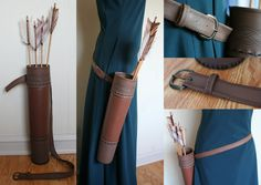 Took some photo's of my The Quiver is made from leftover brown pleather. and I made it without any sort of pattern just references of other quivers to go on. It was a challenge to find a good scree...