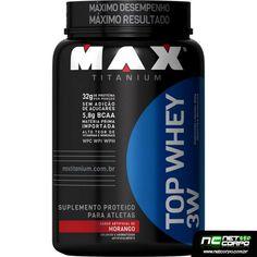 Top Whey 3W Max Titanium fornece 32 gramas de 3 variações de proteínas do soro do leite por porção, são elas a whey protein hidrolisada, whey protein isolada e whey protein concentrada, ambas de alto valor biológico e de rápida absorção. Também contém uma alta concentração de aminoácidos e é rica em vitaminas e minerais, perfeita para o seu pós-treino e com um delicioso sabor.