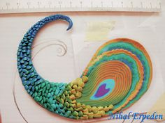 Sculpey Ideas | Inspired by Peacock - A polymer clay art by Nihal Erpe