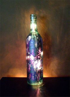 Upcycled wine bottle light #MacGrillHalfPricedWine