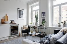 Övre Husargatan 23 A Gravity Home, Scandinavian Apartment, Swedish Style, Cozy Corner, Home Fashion, Decoration, Floor Plans, House Design, Living Room