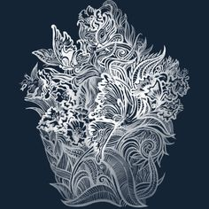 Crystal garden is a T Shirt designed by elinakious to illustrate your life and is available at Design By Humans