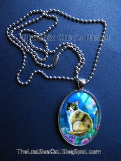 Calico Cat Pendant Necklace