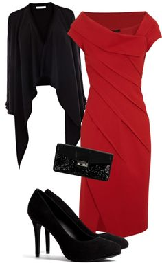 """Classy"" by emmaeajones ❤ liked on Polyvore  Something about the dress I just LOVE"
