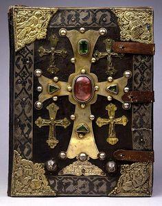 "hideback: ""T'oros Roslin (Armenian, active 1256-1268) T'oros Roslin Gospels, 1262 """
