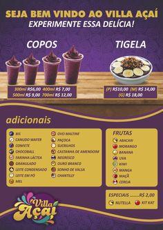 Cardápio Villa Açaí Bubble Mix, Fondue, Snack Bowls, Smoothie Bowl, Food Menu, Acai Bowl, Coffee Shop, Healthy Life, Buffet