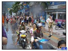 Thailand's Songkran Festival in Phuket. The worlds largest water fight and fun for all the family. The only way to stay dry is not to go outside, but where's the fun in that?  http://hotel-travel-phuket.com/galleries/351/