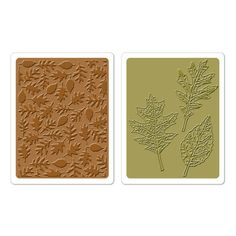 Sizzix - Tim Holtz - Texture Fades - Alterations Collection - Embossing Folders - Textured Leaves Set