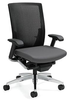 Global G20 High Back Synchro Tilt Mesh Task Chair Track Furniture