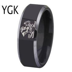 Fashion Washington Redskins Ring Stainless Steel Men Black Unisex Jewelry Sport