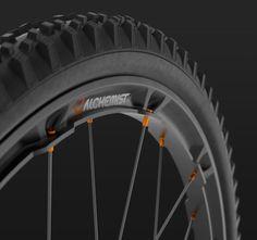 Alchemist X-Sens carbon enduro mountain bike rims prototype rendering Mountain Bike Rims, Mountian Bike, Mountain Biking, 4 Wheel Bicycle, Bicycle Parts, Velo Design, Bicycle Design, Road Bikes, Cycling Bikes
