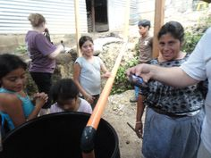 The team installed a water collection system for a widow and her three daughters.  They do not have plumbing so this is the source of their water.  It also prevents erosion caused by the torrential rainfall of Guatemalan rainy season.