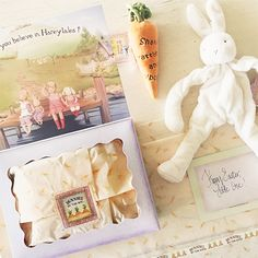 Bunnies By The Bay: Gift Wrap With All The De-Tails! #babygifts #easter #bunnies #gardenthemebabyshower #babyshowergifts #giftwrap
