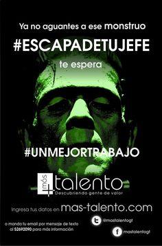 """Pieza """"franky"""" de campaña de atracción de talento humano #escapadetujefe"""