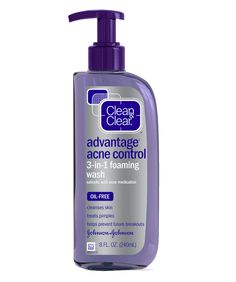 Face Wash || Advantage Acne Control 3 in 1 Foaming Wash- Cleanses Skin, Treats Pimples & Helps Prevent Future Breakouts Natural Facial Cleanser, Facial Cleansers, Facial Wash, Face Cleanser, Oily T Zone, Salicylic Acid Acne, Acne Control, Acne Face Wash, Natural Acne Remedies