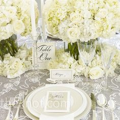 table numbers and name card idea for reception