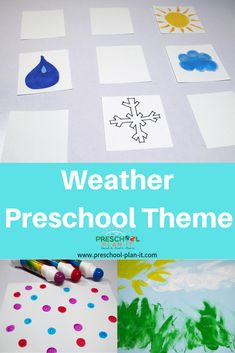 This Weather Theme page includes preschool lesson plans, activities and Interest Learning Center ideas for your Preschool Classroom and links to specific weather activities! Science Area Preschool, Preschool Lesson Plans, Preschool Learning Activities, Preschool Classroom, Learning Centers, Preschool Ideas, Kindergarten, Weather Activities For Kids, Preschool Weather